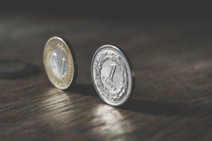 Monety złotówka i dwa złote