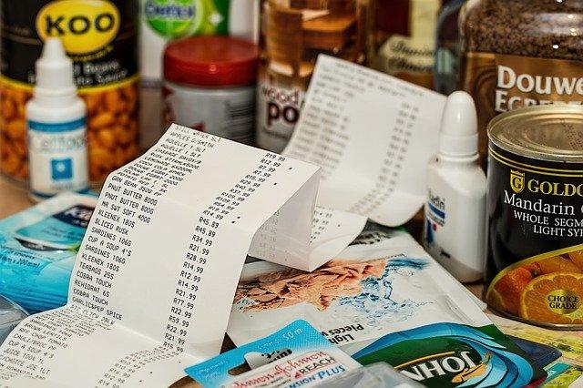 Rachunek ze sklepu za zakupy